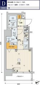 スカイコートヒルズ新宿5階Fの間取り画像