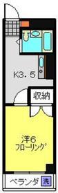 妙蓮寺ミューズ2階Fの間取り画像