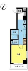 スカイコートヌーベル神田8階Fの間取り画像