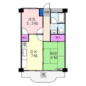 第3三建マンション3階Fの間取り画像