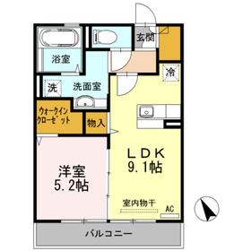 コルトン3階Fの間取り画像