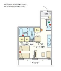 ヘーベルVillage 椎名町4階Fの間取り画像