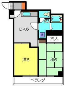 モルゲンロート蒔田4階Fの間取り画像