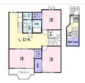 相模大塚駅 徒歩12分2階Fの間取り画像