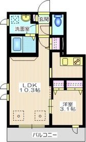 メゾン サンクレール1階Fの間取り画像