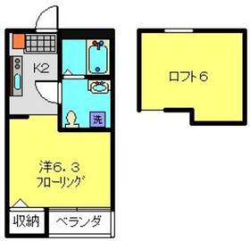 ラ・ルーチェ1階Fの間取り画像
