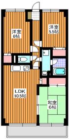地下鉄成増駅 バス7分「土支田交番」徒歩1分2階Fの間取り画像