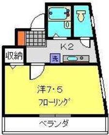 横浜元町ガーデンⅠ2階Fの間取り画像