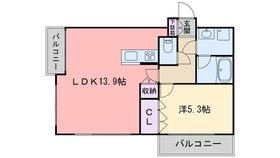 西新ROOMS15階Fの間取り画像