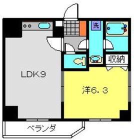 ティーリーフ横浜モデルノ11階Fの間取り画像