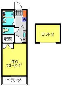 貴志ハイツC棟2階Fの間取り画像