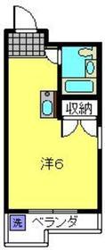 木曽屋第2ビル8階Fの間取り画像