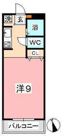 ニューエクセル三宅 F2階Fの間取り画像
