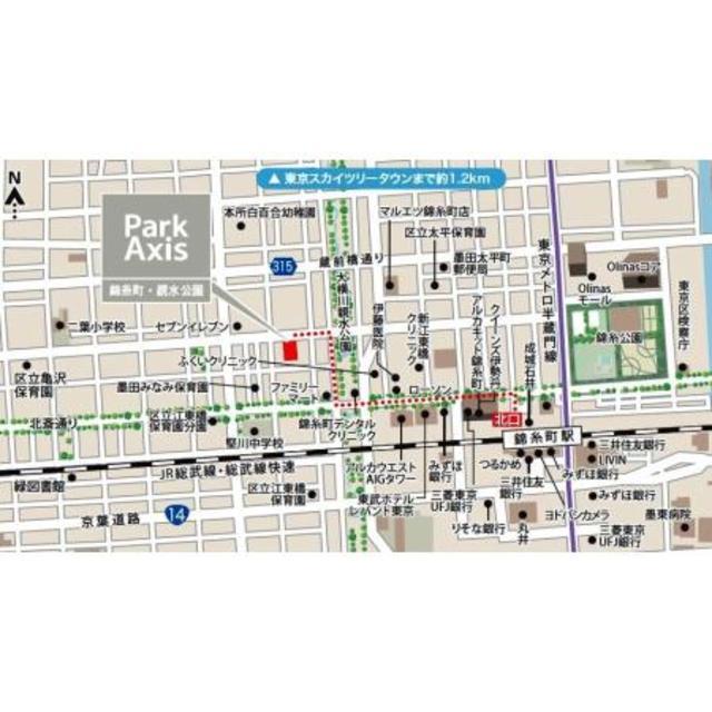 パークアクシス錦糸町・親水公園案内図