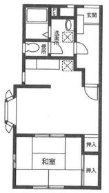 ヴァンベール三ツ境1階Fの間取り画像