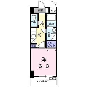 ケンオークニ4階Fの間取り画像