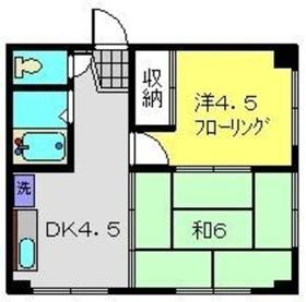 内田マンション3階Fの間取り画像
