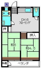 浜田ビル3階Fの間取り画像