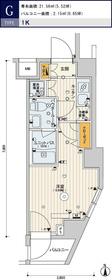スカイコート品川パークサイド26階Fの間取り画像