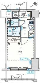 バージュアル横濱鶴見8階Fの間取り画像