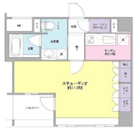 新橋駅 徒歩8分10階Fの間取り画像