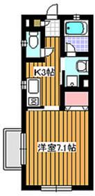 西高島平駅 徒歩21分2階Fの間取り画像