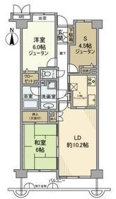伊勢原駅 徒歩9分4階Fの間取り画像