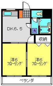DOMO上大岡2階Fの間取り画像