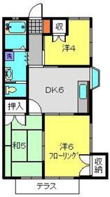 セブンハイム1階Fの間取り画像