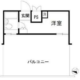 ダイヤモンドレジデンス新宿5階Fの間取り画像