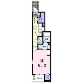 ベル フォレ ディーオ1階Fの間取り画像