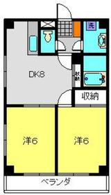 シャンス東寺尾中台11階Fの間取り画像