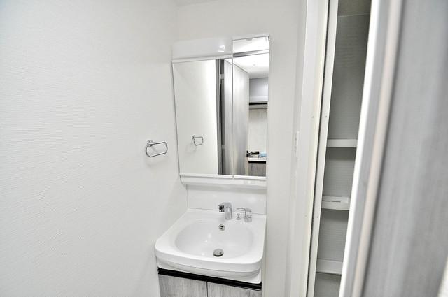 レジュールアッシュOSAKA新深江 豪華な洗面台はもちろんシャンプードレッサー完備です。