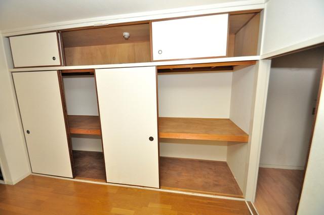 ハイツコスモ 各所に収納があるので、お部屋がすっきり片付きますね。