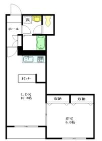 Maison de la lumiere2階Fの間取り画像
