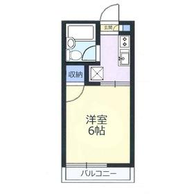 ハイツサイモン2階Fの間取り画像