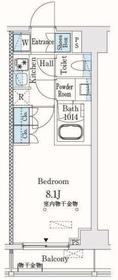市谷仲之町ビューアパートメント2階Fの間取り画像