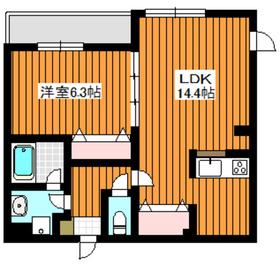 成増サン・マロニエ2階Fの間取り画像