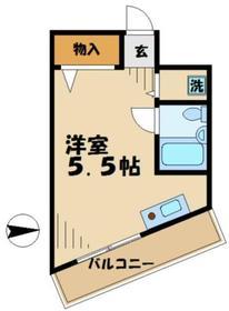 プチコート高幡2階Fの間取り画像