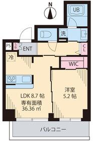 COURT TAKETOKU Ⅱ5階Fの間取り画像