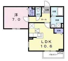 プランドール2階Fの間取り画像