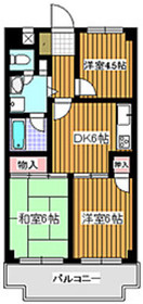 シャトーサンハイム4階Fの間取り画像
