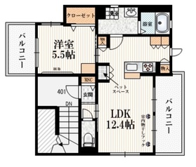 (仮称)お花茶屋1丁目メゾン4階Fの間取り画像