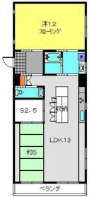 ゼウス金森ビル2階Fの間取り画像