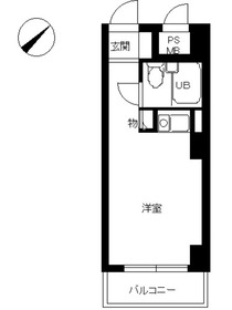 スカイコート横浜日ノ出町10階Fの間取り画像