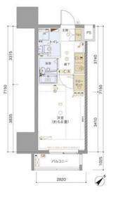 リヴシティ横浜東ベイサイド9階Fの間取り画像