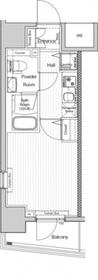 VERXEED阪東橋MAXIV3階Fの間取り画像