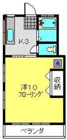 東蒔田ハイツ2階Fの間取り画像