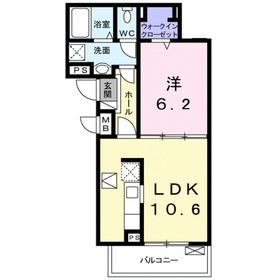 ピースフルガーデン2階Fの間取り画像