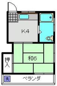 コーポノアキ1階Fの間取り画像